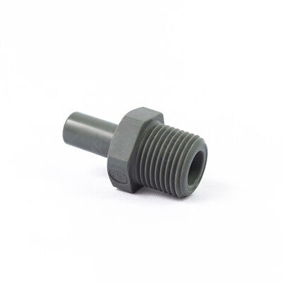 3//8 Tube OD x 1//4 NPTF Male John Guest Acetal Copolymer Tube Fitting Pack of 10 Straight Adaptor