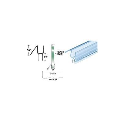 Crl Clear Co-extruded Bottom Wipe With Drip Rail For 12 Glass 31 58 Long