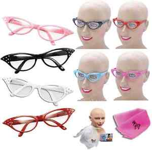 Grease-Rock-n-Roll-Fancy-Dress-costume-1950s-50s-party-Bopper-Glasses-Scarf