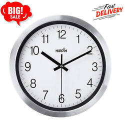 Wall Clock 12 Inch Living Room Non Ticking Decorative Home Modern Large Office