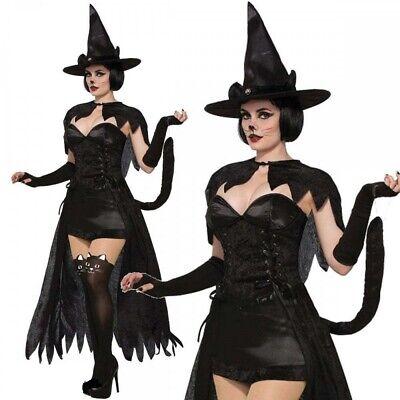 Erwachsene Wicked Kätzchen Katzenkostüm Halloween Karneval Tier Gothic - Schwarze Katze Kostüm Erwachsene