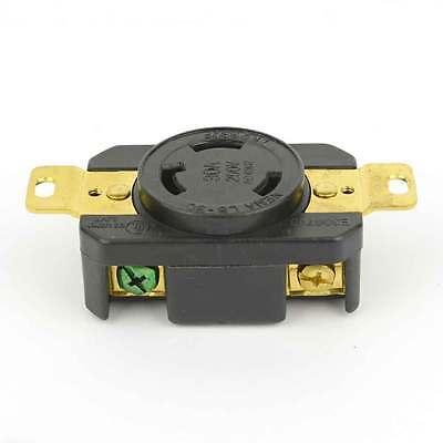 Twist Lock Wall Mount Electrical Receptacle 3 Wire, 30 Amps, 250V, NEMA- YGP017F