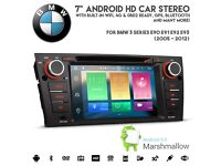 "BMW 3 Series 7"" HD Octa-Core 64bit 32GB 2G RAM Android 6.0"" Touch Screen GPS DVD USB AUX BT Player"