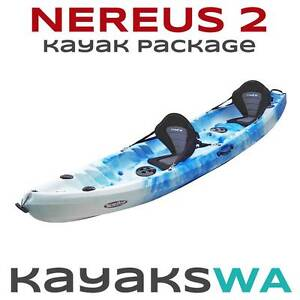 New Nereus Double / Triple Kayak - Incl. Deluxe Seats and Paddles Bibra Lake Cockburn Area Preview