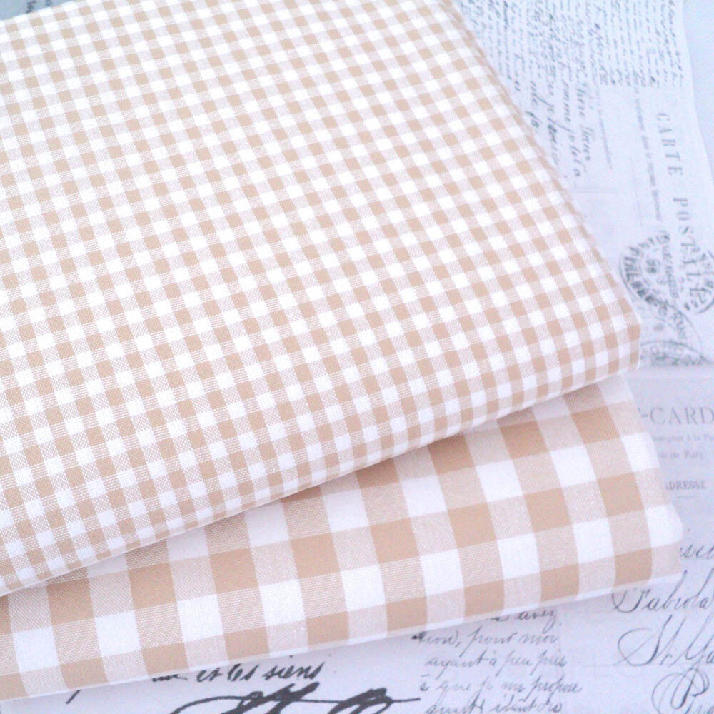 9mm 3mm 1mm CHECK COTTON FABRIC bunting KENT 2 BABY PINK YARN DYED GINGHAM