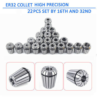 Er32 Collet 22pcs Set All Sizes By 16th And 32nd Industrial Grade Accurate Usa