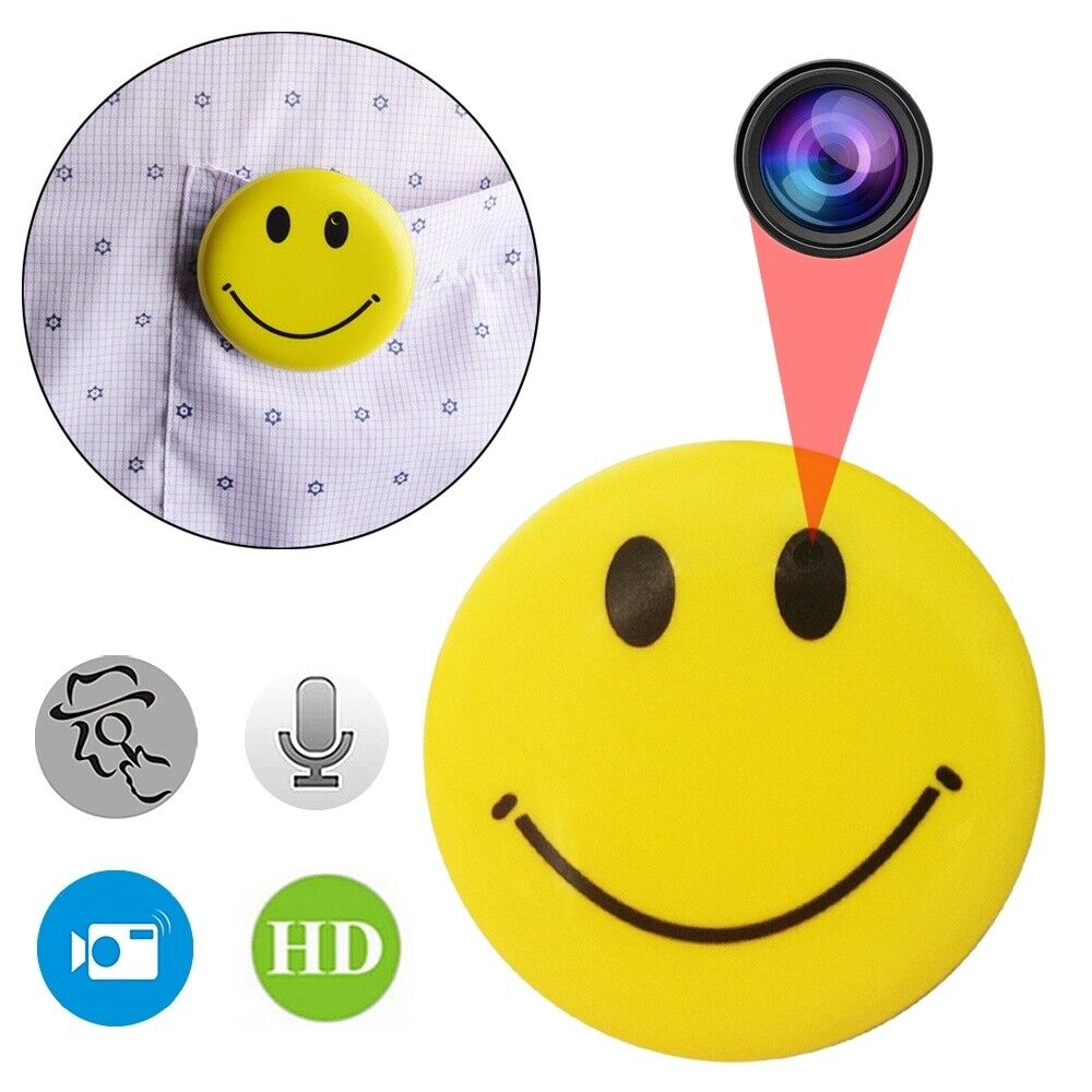 Spy Camera Smile Face 720P Hidden Camera for Home and Outdoo
