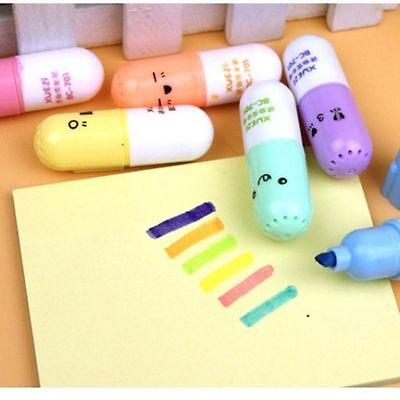 For Shaped Pen Korean Writing Supplies Marker Cute 6 Face School Office
