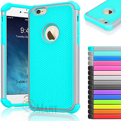 """Rugged Rubber Hard Shockproof Cover Case for iPhone 7 6 6s 4.7"""" 5.5"""" Plus"""