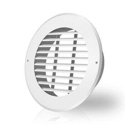 Wall-mount Duct Grille Vent For Heating Cooling Ventilation White Steel 8-inch