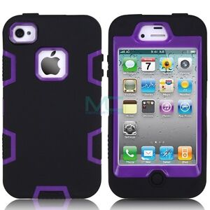Hybrid Shockproof Durable Defender Series Case For iPhone 4 4G 4S ( 8 Color )
