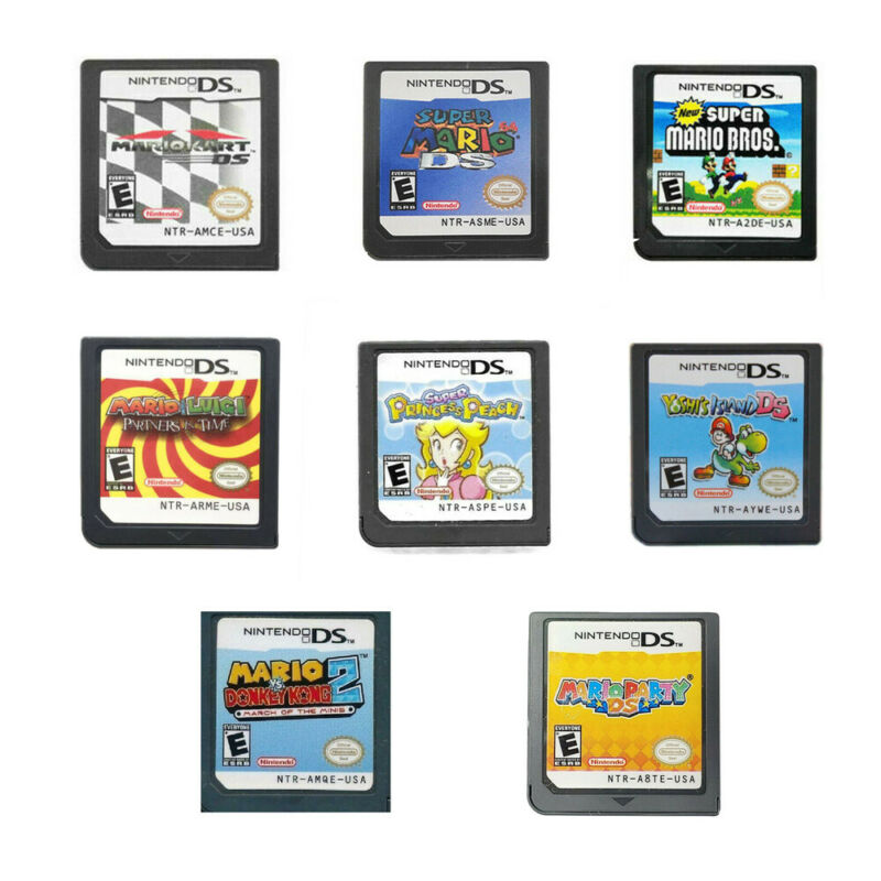 Mario Kart Mario Party Super Mario 64 Nintendo Game Card for NDSL/NDSI/3DS/3DSXL