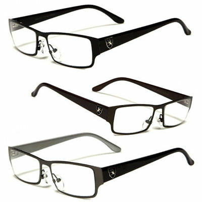New Metal Fashion Retro Unisex Mens Womens Clear Lens Nerd Geek Glasses Eyewear