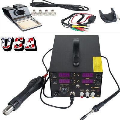Us4 In1 Hot Air Gun Unit Soldering Rework Station Welding Machine Power Supply