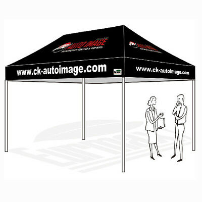 10x15 Custom Logo Printed Top Cover For Pop Up Canopy Instant Patio Gazebo Tent