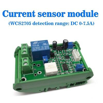24v Wcs2705 Current Sensor Module Dc 0-7.5a Overcurrent Protection With Stand