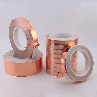 Copper Foil Tape 0.3inch X 100ft - EMI Shielding Conductive Adhesive 8mmx30m