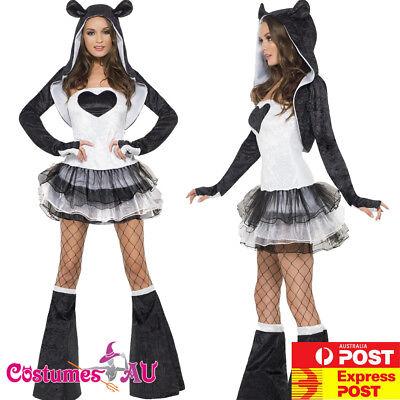 Ladies Fever Sexy Panda Costume Animal Jungle Zoo Party Womens Teen Fancy Dress