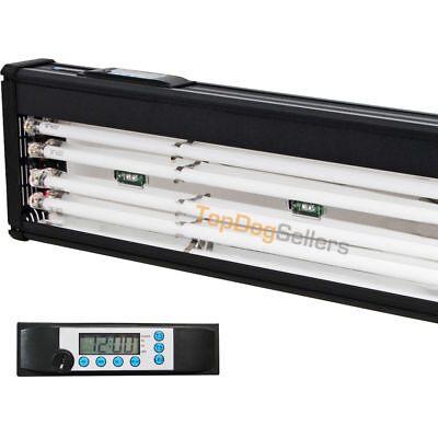 USED 173 T5 Quad 48 Timer Aquarium Light Marine FOWLR Cichlid LED 4x 54W Odyssea