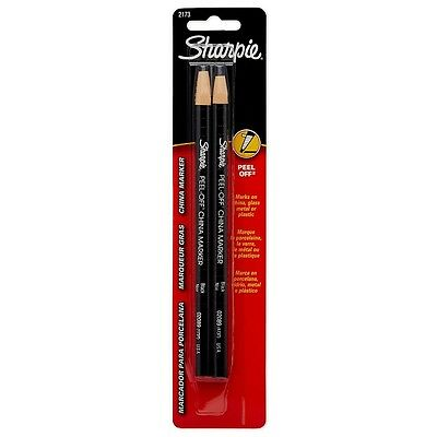 Sharpie Peel-off China Markers Black 2 Ea