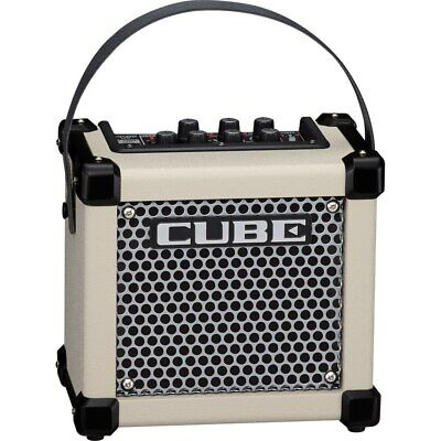 "Roland Micro Cube GXR 3W 1x5"" Battery-Powered DSP Effects Guitar Combo Amp White"
