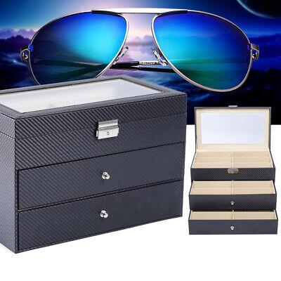Eyeglass Storage 3 Layers 18 Grid Sunglasses Box Organizer Collector Drawer (Eyeglass Storage Drawer)
