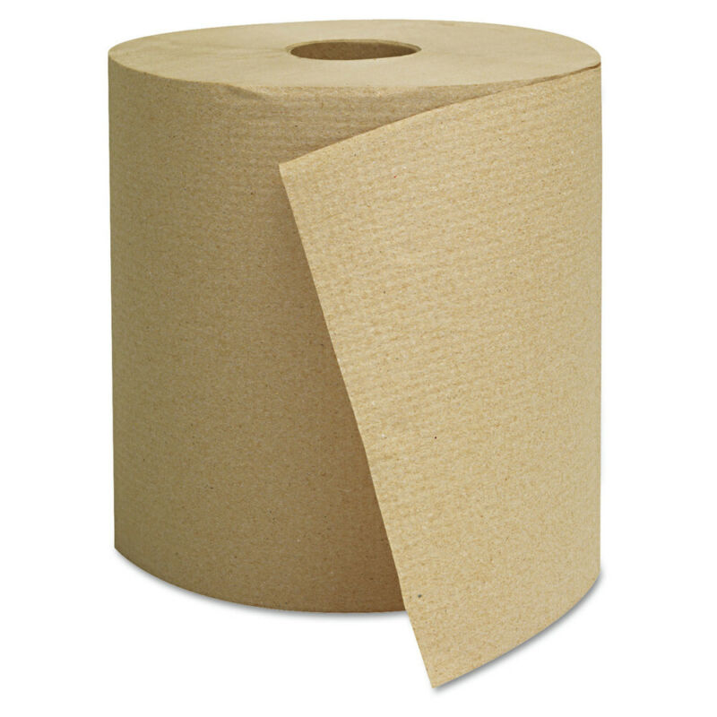 GEN 1825 6-Pc. 800 ft. 1-Ply Hardwound Towels - Brown New