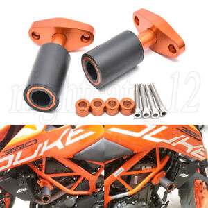 For KTM Duke 125 200 390 Duke CNC Frame Slider Crash Protector (No Fairing Cut)