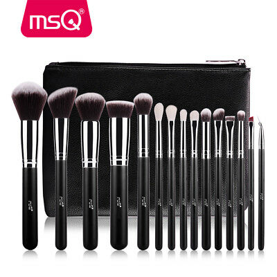 Pro MSQ 15PCs Makeup Brushes Set Powder Foundation Eye Shadow Make Up Brush Tool