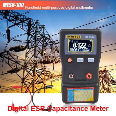 Mesr-100 Portble Mini Esr Capacitance Meter Capacitor Circuit Resistance Meter