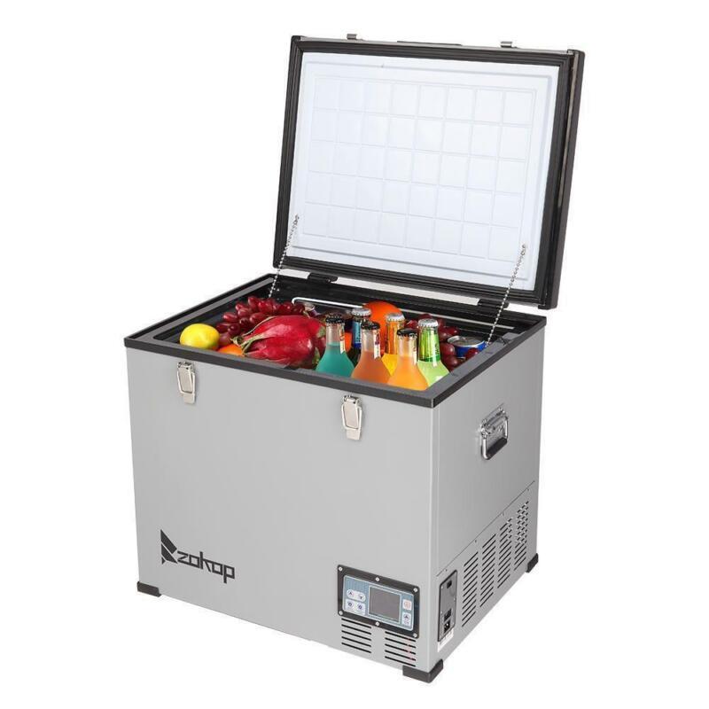 64Qt 60L Portable Car Fridge Freezer 24/12V  Refrigerator Cooler Electric Cool