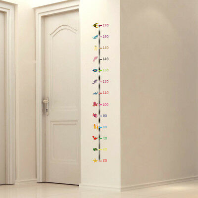 (Kid Baby Height Measure Growth Chart Animal Wall Stickers Removable DIY Decor)