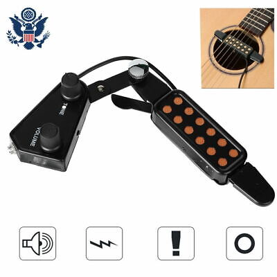 Easy Install 12-Hole Acoustic Classical Guitar Pickup Volume Adjust Universal