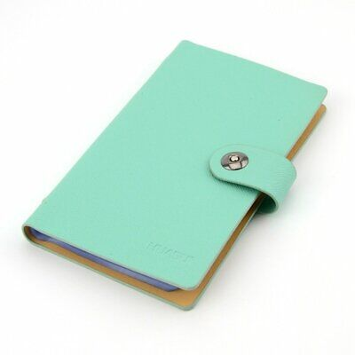 Durable Leather Business Card Organizer Holds Upto 240 Cards - Blue
