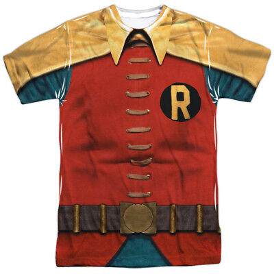 Retro Batman And Robin Costumes (Batman Classic TV Series Retro Robin Costume Adult Front Print)