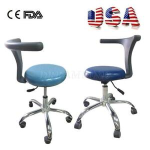 Dental Doctor Assistant Stool Adjustable Mobile Chair PU Hard Leather US KM#LZ - BRAND NEW - FREE SHIPPING