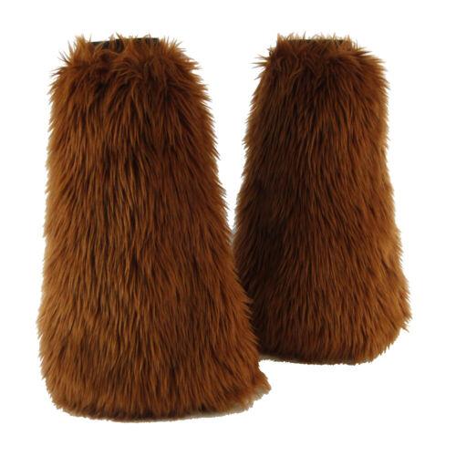 PAWSTAR Furry Leg Warmers - Fluffies Faux Fur Rust Brown Boot Cover [RU]2900