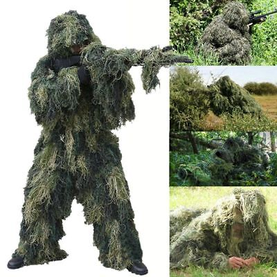 Red Rock 5pc Ghillie Suit Kids YOUTH 14-16 Tactical Stealth Survival WOODLAND-](Kids Ghillie Suit)