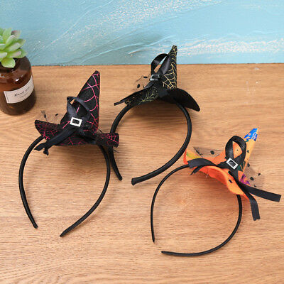 Mini Witch Hat Headband (Mini Witch Hat On Headband Ladies Girls Halloween Fancy Dress Props Kid)