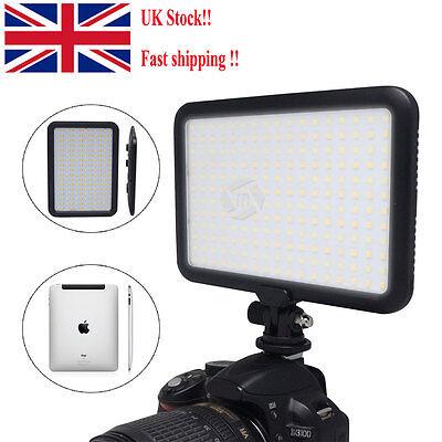 UK Mcoplus LED Video Light Lamp Bi Color for Canon Nikon DSLR Camera Camcorder