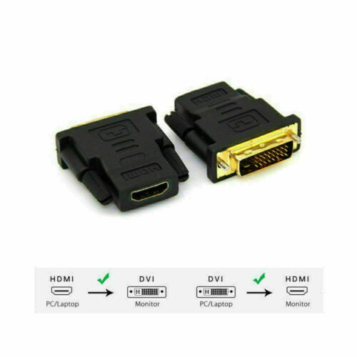 DVI-D Male 24+1 pin to HDMI Female 19-pin HD HDTV PC Monitor Display Adapter #13