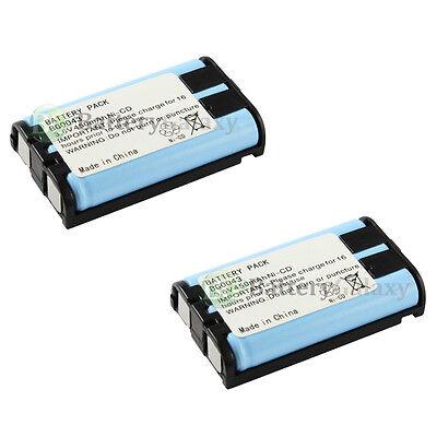 2 Home Phone Battery 450mAh NiCd for Panasonic HHR-P104 HHR-