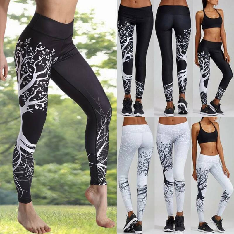 Women Butt Lift Yoga Pants High Waist Leggings Fitness Exercise Sports Trousers 9
