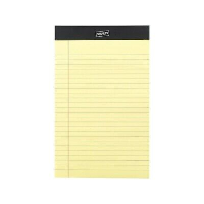 Staples Notepads 5 X 8 Narrow Canary 50 Sheetspad 12 Padspack 26829 163832
