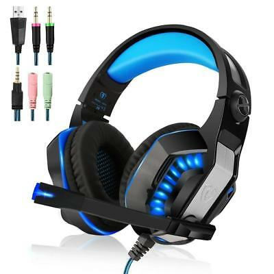 New Xbox One Best Headset PS4 S Gaming with Microphone Over Ear Stereo