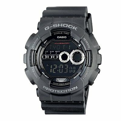 Casio G-Shock GD100-1B Black Mens Sports Watch - Tough,