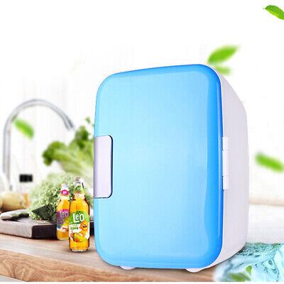 4L Mini Car Fridge with Freezer Refrigerator Cooler Warmer Drinks Cosmetics Home