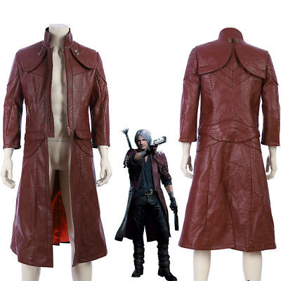 New Devil May Cry V DMC 5 Dante Cosplay Costume Red Three-quarter Sleeve (Dmc 5 Kostüm)
