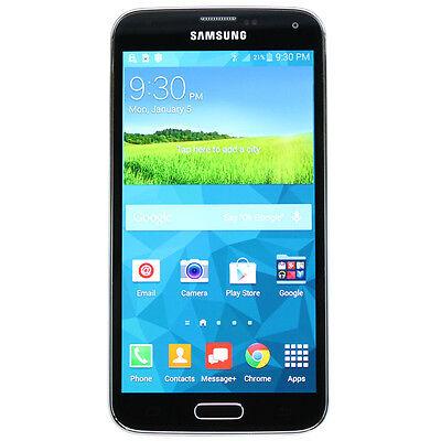 Samsung Galaxy S5 SM-G900V Cell Phone Shimmery Black (Verizon) Smartphone
