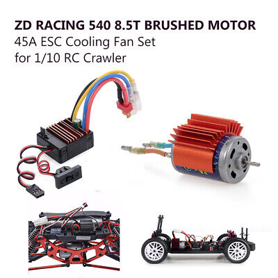 ZD Racing 540 8.5T Brushed Motor mit 45A ESC Lüfter Set für 1/10 RC Crawler D5P8